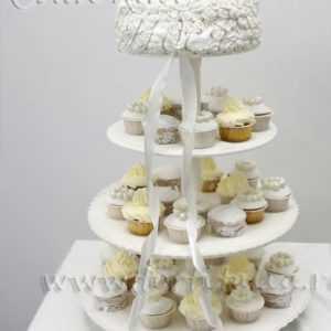 Свадебный торт Ленточная роза