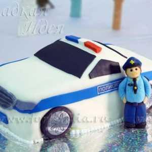 Торт Полицейская машина