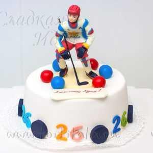 Торт на заказ Хоккеист