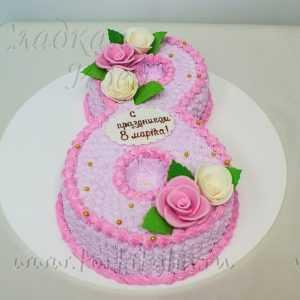 Торт С праздником 8 Марта
