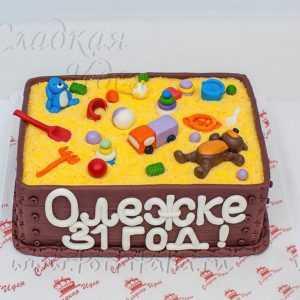 Торт: Детская песочница