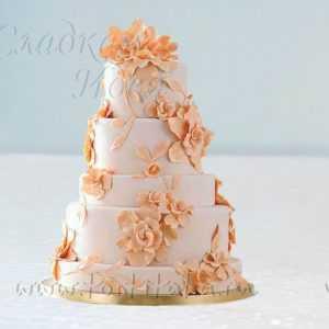 Многоярусный свадебный торт 007284