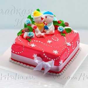 Новогодний торт 007330