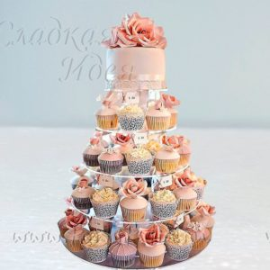 """Торт на свадьбу """"Свадебный капкейк"""""""