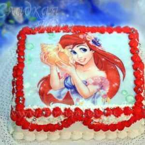 Торт для девочки Русалка