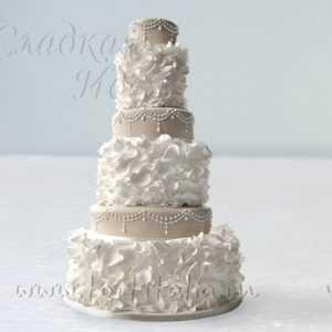 """Торт свадебный """"Торжественный беж"""""""