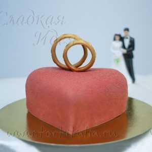 Свадебный торт 2 кольца