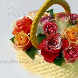 Торт Корзинка с цветами