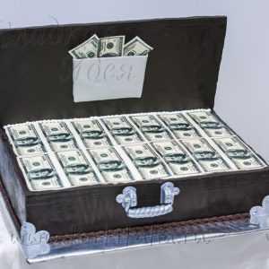 Торт Чемодан долларов