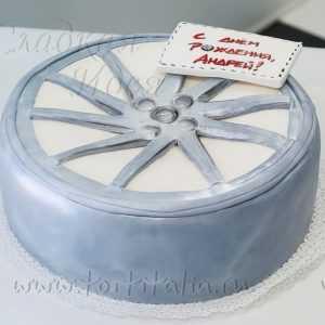 Торт из мастики: Колесо